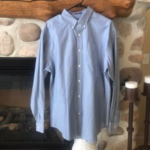 {Eddie Bauer} Striped Button Down Shirt. Size L.